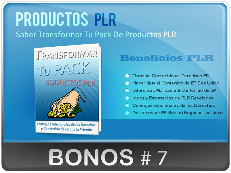 Saber Transformar Tu Pack De Productos PLR caja